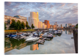 Acrylic glass  Evening sun in the Media Harbour Dusseldorf - Michael Valjak