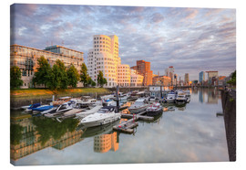 Canvas print  Evening sun in the Media Harbour Dusseldorf - Michael Valjak
