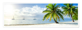 Premium poster  Summer, sun, beach and sea in the Caribbean vacation - Jan Christopher Becke