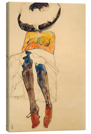 Canvas print  Nude with hat - Egon Schiele