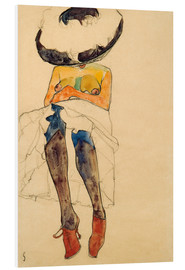 Foam board print  Nude with hat - Egon Schiele
