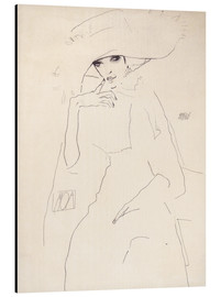 Aluminium print  Moa the dancer - Egon Schiele