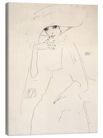 Canvas print  Moa the dancer - Egon Schiele