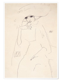 Premium poster  Moa the dancer - Egon Schiele