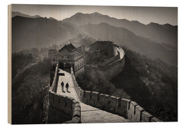 Wood print  The great wall - Denis Feiner