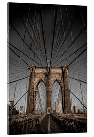 Acrylic print  Brooklyn Bridge - Denis Feiner