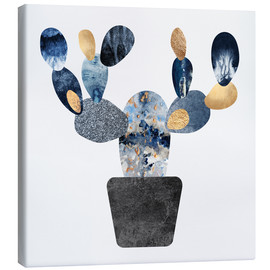 Canvas print  Blue And Gold Cactus - Elisabeth Fredriksson
