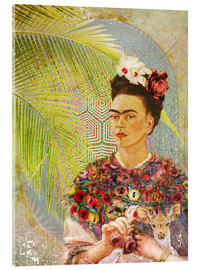 Acrylic glass  Frida Kahlo With Deer - Moon Berry Prints