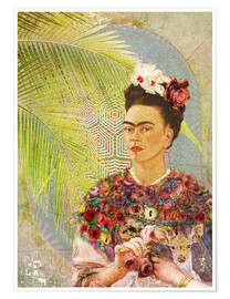 Premium poster  Frida With Deer - Moon Berry Prints