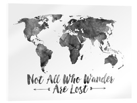 Acrylic print  Watercolor World Map - Mod Pop Deco