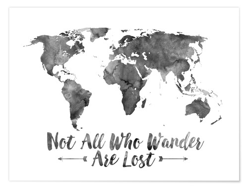 Premium poster Watercolor World Map