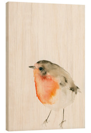 Wood print  Robin - Dearpumpernickel