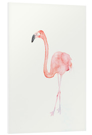 Foam board print  Flamingo - Dearpumpernickel