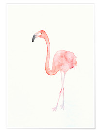Poster  Flamingo - Dearpumpernickel
