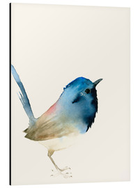 Aluminium print  Dark blue bird - Dearpumpernickel