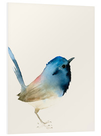 Foam board print  Dark blue bird - Dearpumpernickel