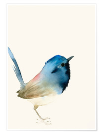 Poster  Dark blue bird - Dearpumpernickel