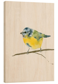 Wood print  Blue tit - Dearpumpernickel