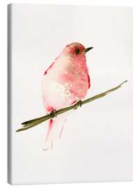 Canvas print  Rasberry red bird - Dearpumpernickel