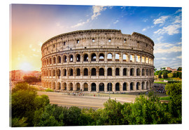 Acrylic print  Colosseum at sunset in Rome, Italy - Jan Christopher Becke