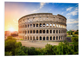 Foam board print  Colosseum at sunset in Rome, Italy - Jan Christopher Becke