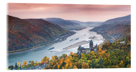 Acrylic print  Burg Stahleck on the river Rhine in autumn, Germany - Matteo Colombo