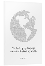 Foam board print  Limits of my language - RNDMS