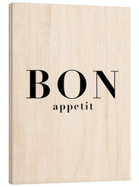 Wood print  Bon Appetit - Finlay and Noa