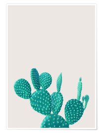 Premium poster  Turquoise cactus - Finlay and Noa