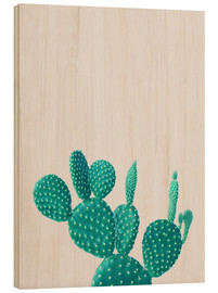 Wood  Turquoise cactus - Finlay and Noa