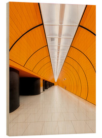Wood print  Marienplatz  subway station in Munich - Dieter Meyrl