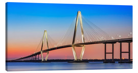 Canvas print  Cooper River Bridge - Charleston - Dieter Meyrl