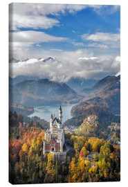 Canvas print  Neuschwanstein Castle at Autumn - Dieter Meyrl