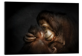 Acrylic print  Time for Tenderness Bond of love - Manuela Kulpa