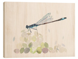 Wood  Dragonfly Building - Verbrugge Watercolor