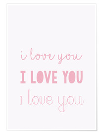 Premium poster  I love you pastel - Finlay and Noa