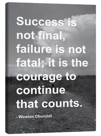 Canvas  Winston Churchill on Courage - Finlay and Noa