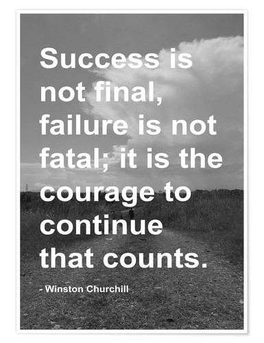 Premium Poster Winston Churchill On Courage