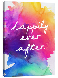 Canvas print  Happily Ever After - Happy to the end of life - Finlay and Noa