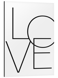 Aluminium print  Love - Finlay and Noa