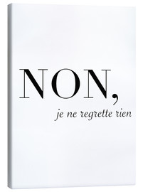 Canvas  Non, je ne regrette rien- No, I have no regrets - Finlay and Noa