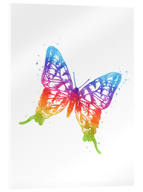 Acrylic print  Butterfly Watercolor - Mod Pop Deco