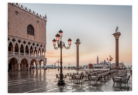 Foam board print  St. Mark's square in Venice during sunrise - Dieter Meyrl