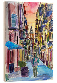 Wood print  Fascinating Palermo Sicily Italy Street Scene - M. Bleichner