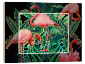 Wood print  tropical mood - Mark Ashkenazi