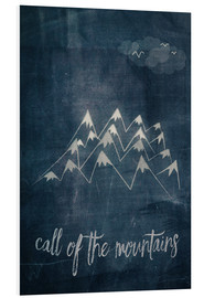 Foam board print  call of the mountains - Sybille Sterk