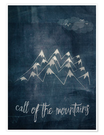 Premium poster call of the mountains