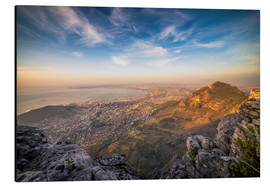 Aluminium print  Table Mountain View - Salvadori Chiara
