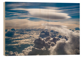 Wood print  Riding clouds - Denis Feiner