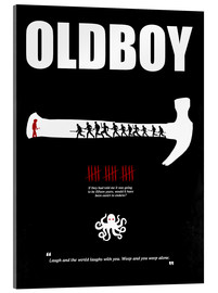 Acrylic print  oldboy - Minimal Film Movie Poster Alternative - HDMI2K